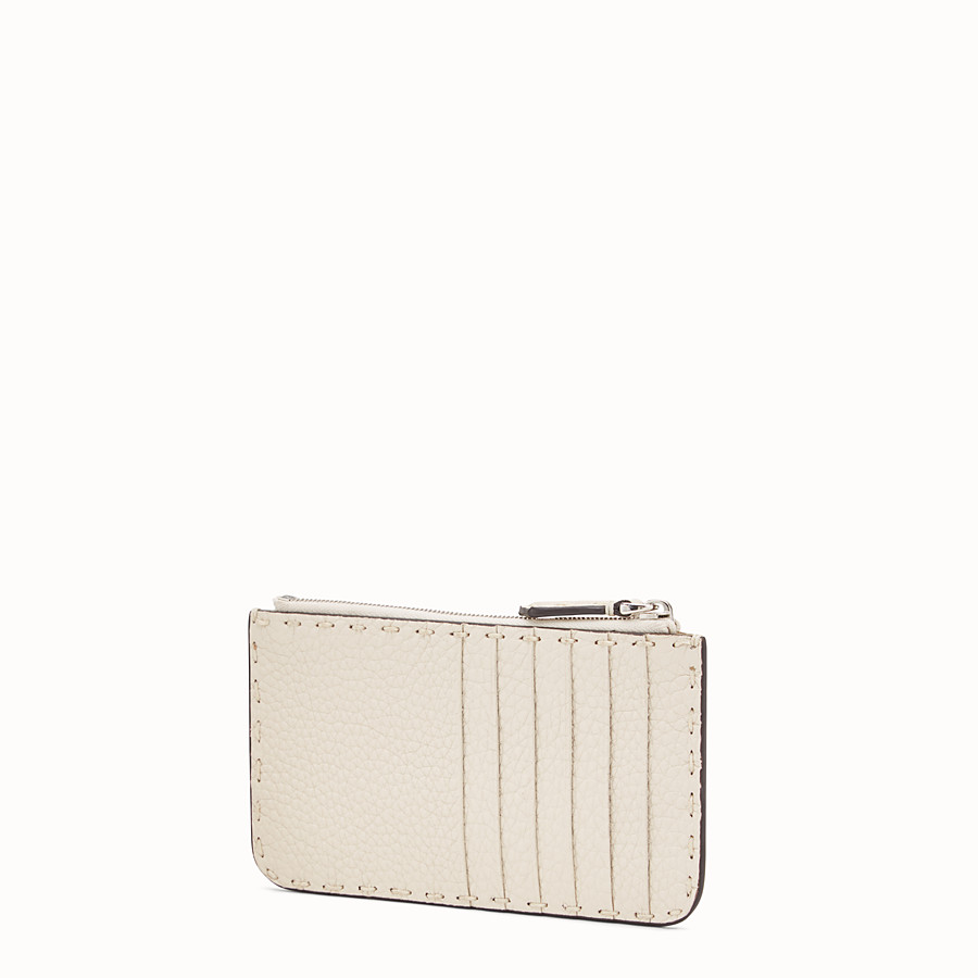FENDI CARD POUCH - White leather pouch - view 2 detail