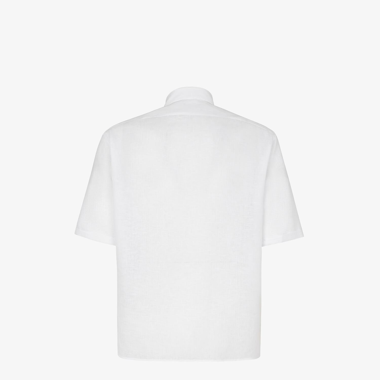 FENDI SHIRT - White linen shirt - view 2 detail