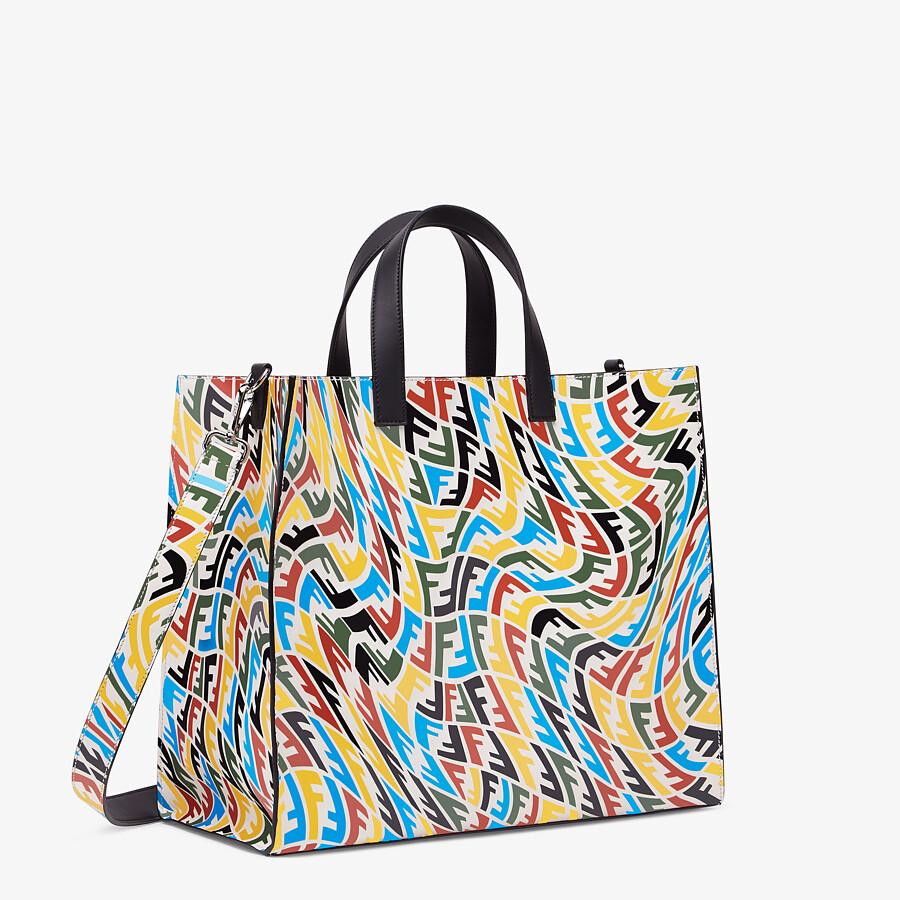 FENDI SHOPPER - Multicolour FF Vertigo leather bag - view 2 detail