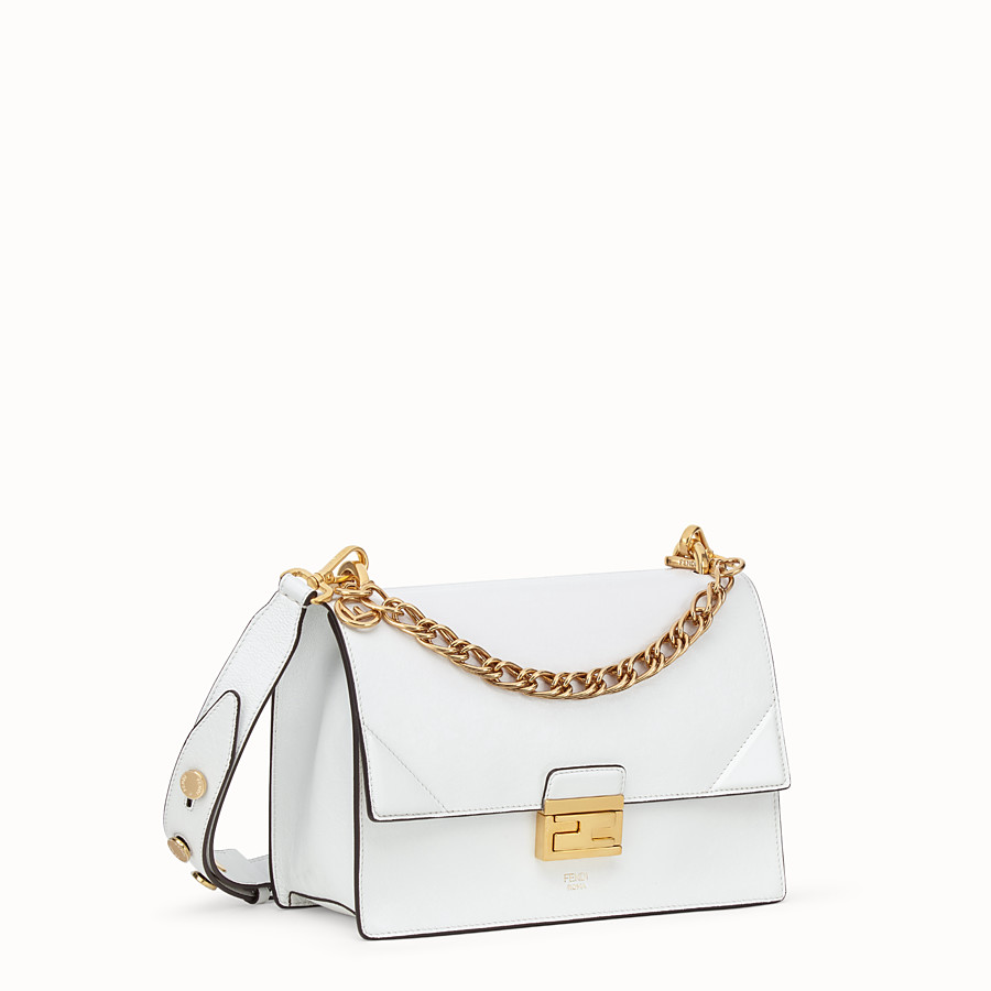 FENDI KAN U - White leather bag - view 2 detail