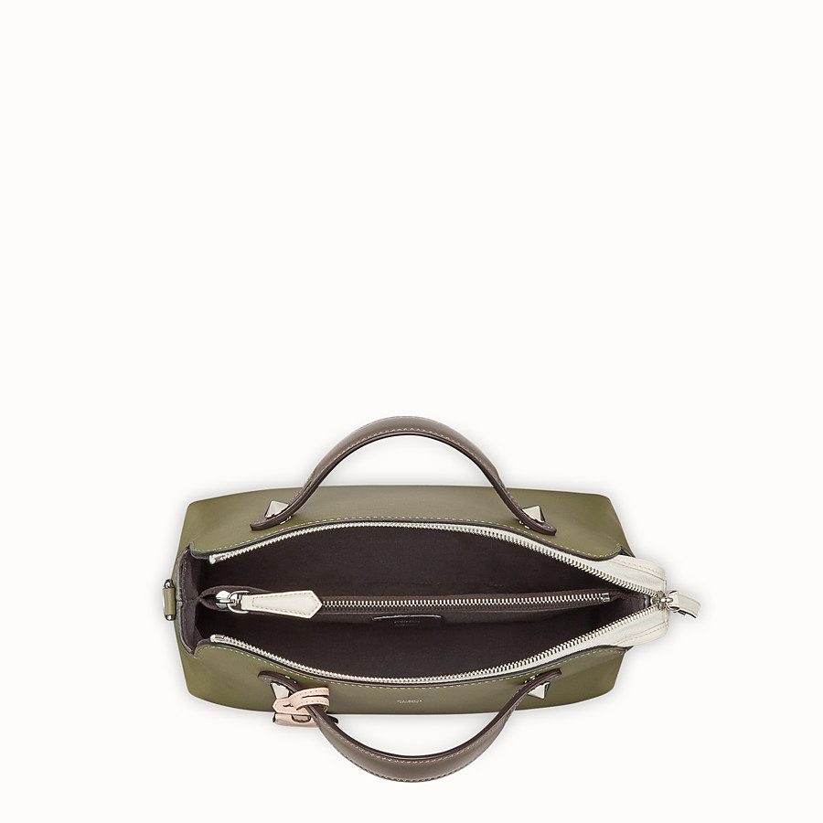 FENDI BY THE WAY REGULAR - Green leather Boston bag - view 4 detail