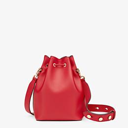 FENDI MON TRESOR - Mini-Tasche aus Leder in Rot - view 3 thumbnail