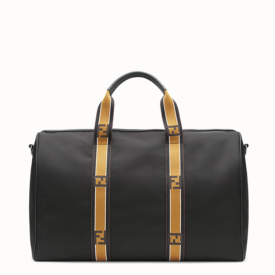 FENDI SATCHEL - Black nylon bag - view 3 detail
