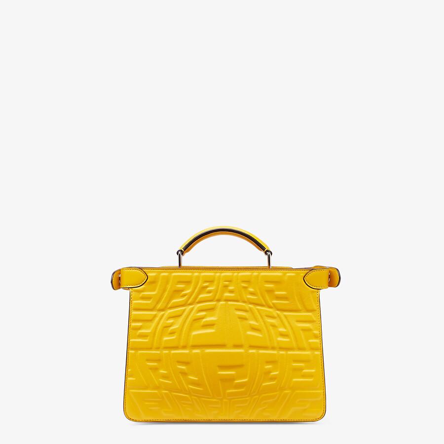 FENDI PEEKABOO ISEEU MINI - Yellow nappa leather bag - view 4 detail