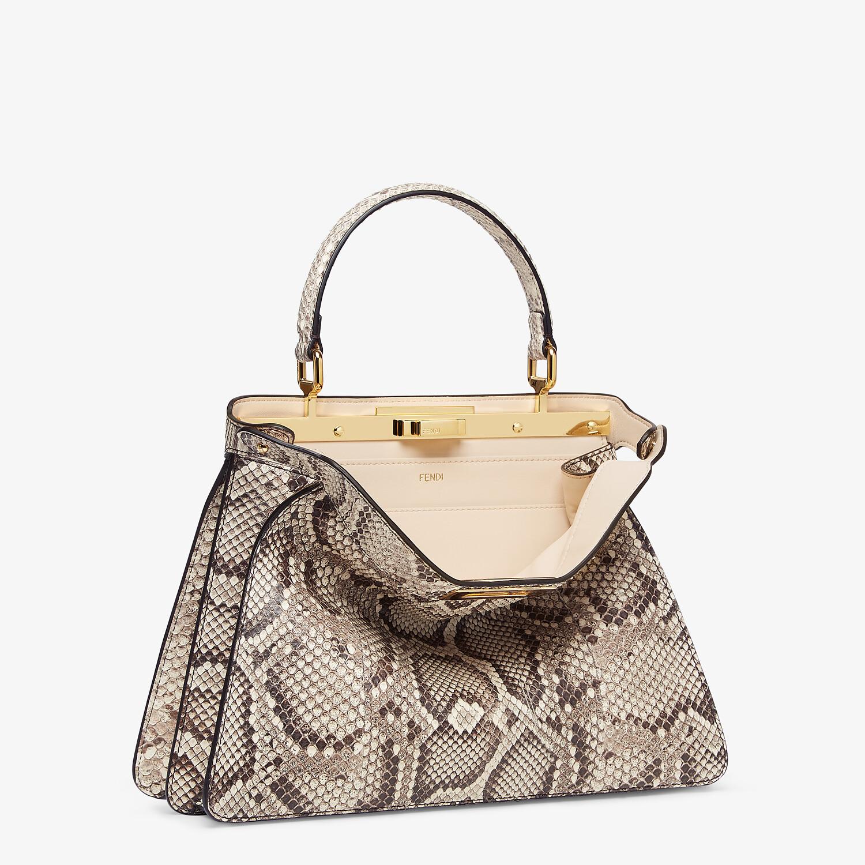FENDI PEEKABOO ISEEU MEDIUM - Natural python leather bag - view 4 detail