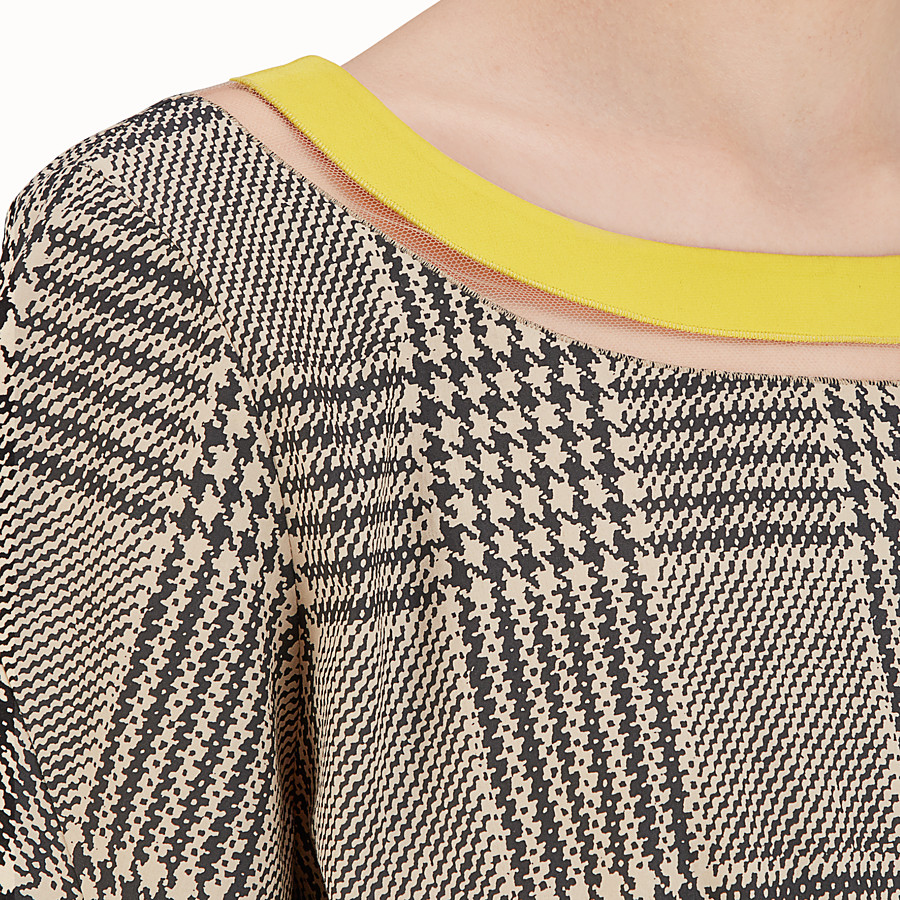FENDI DRESS - Glen plaid cotton dress - view 3 detail