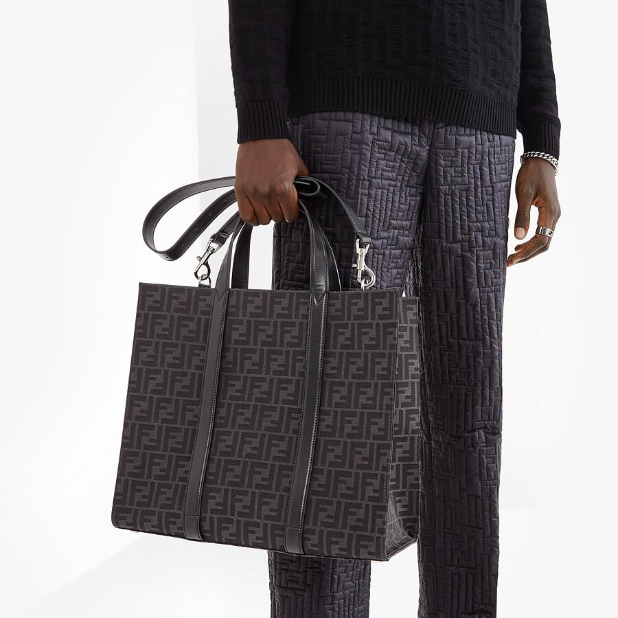 FENDI SHOPPER - FF jacquard fabric bag - view 6 detail