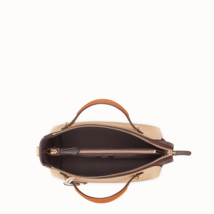FENDI BY THE WAY MEDIUM - Beige leather Boston bag - view 5 detail