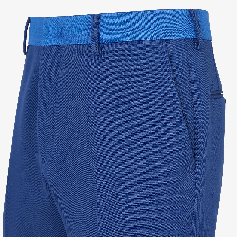 FENDI PANTS - Blue wool pants - view 3 detail