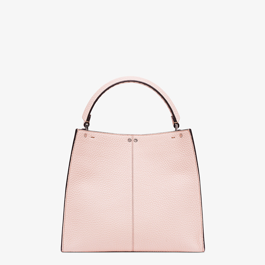 FENDI PEEKABOO X-LITE MEDIUM - Pink leather bag - view 4 detail