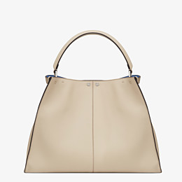 FENDI PEEKABOO X-LITE LARGE - Beige leather bag - view 4 thumbnail