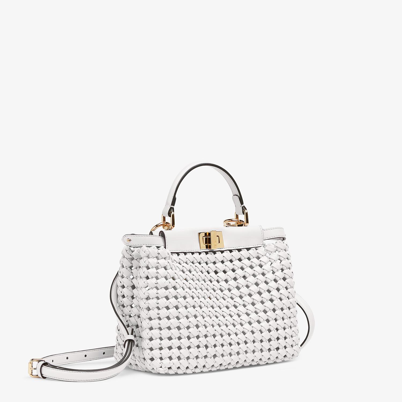 FENDI PEEKABOO ICONIC MINI - White leather interlace bag - view 3 detail