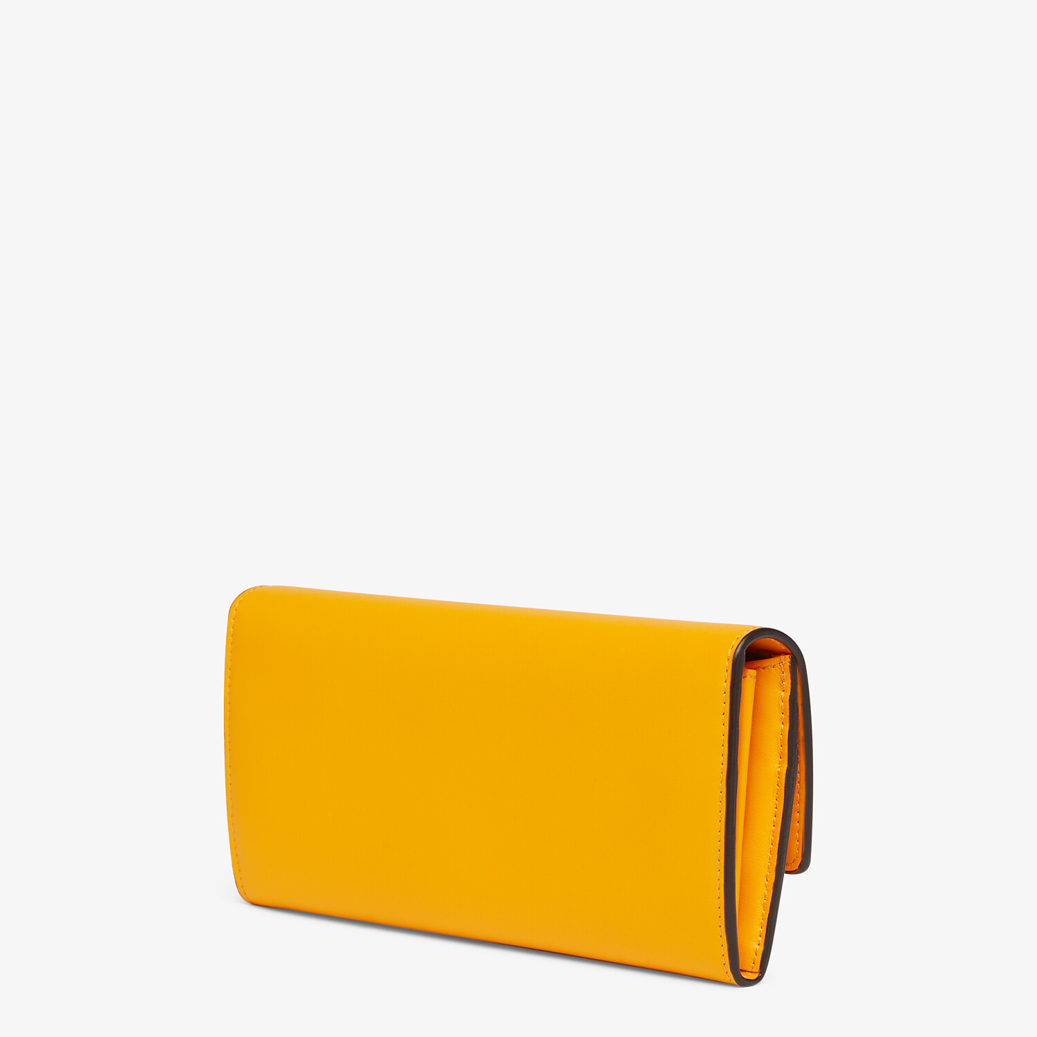 FENDI CONTINENTAL - Orange leather wallet - view 2 detail