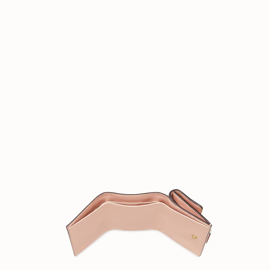 FENDI MICRO TRIFOLD - Portemonnaie aus Nappaleder in Rosa - view 4 detail