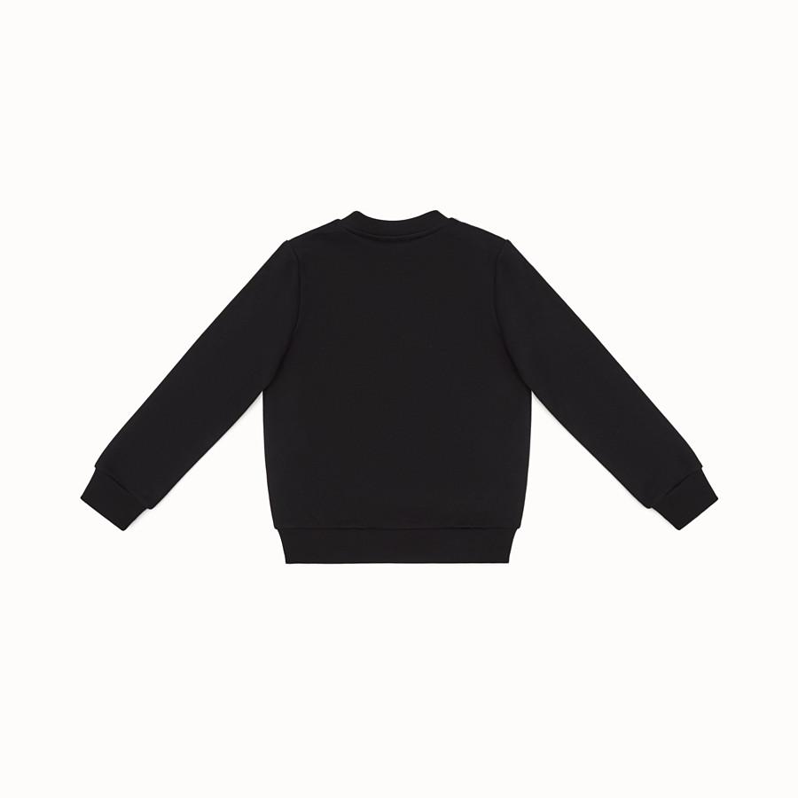 FENDI SWEATSHIRT - Black cotton sweatshirt - view 2 detail