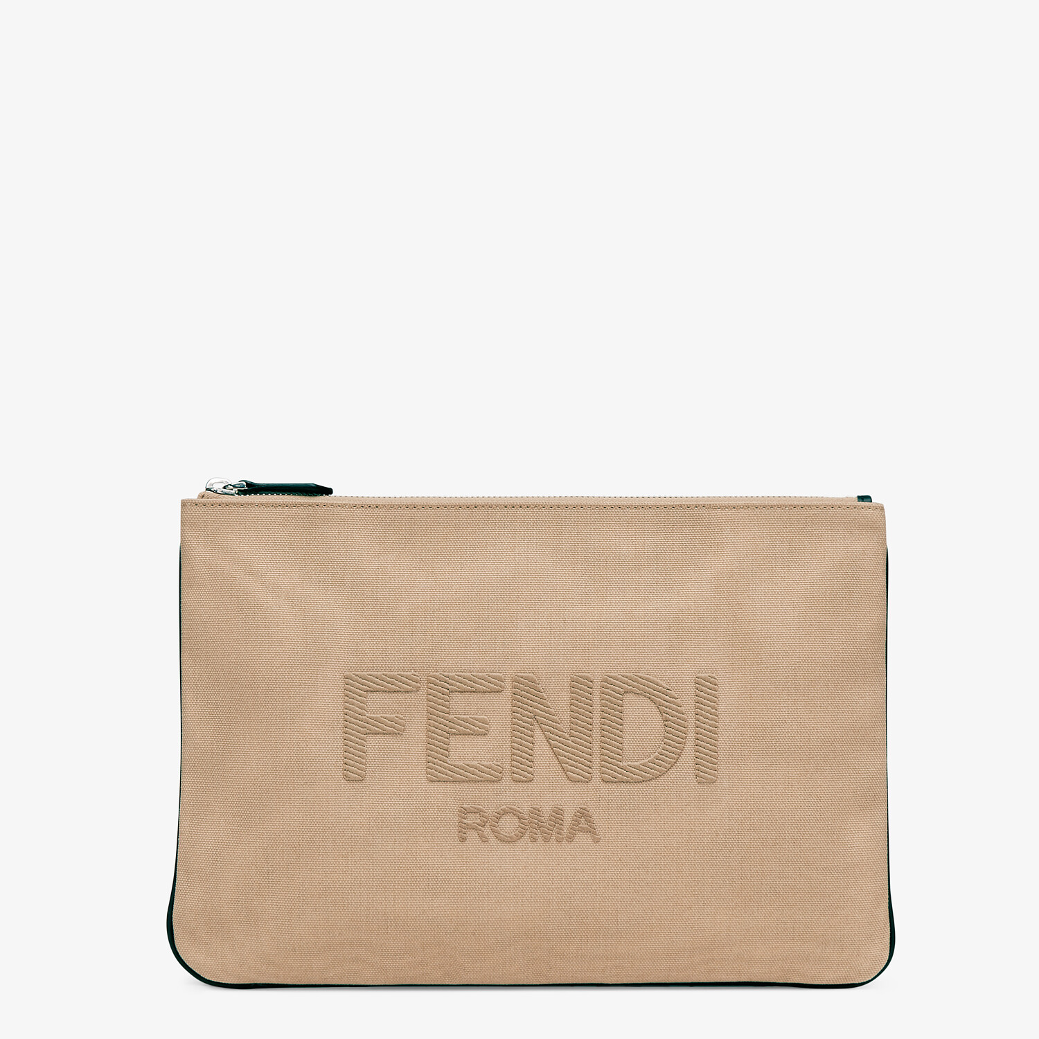 FENDI POUCH - Beige canvas pouch - view 1 detail