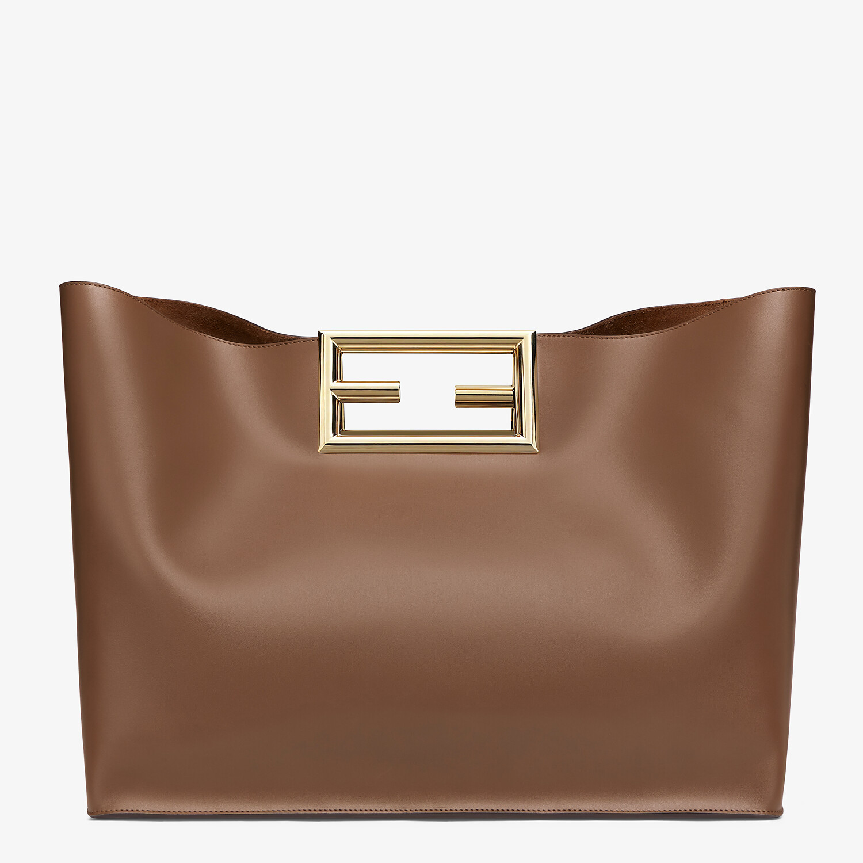 FENDI FENDI WAY LARGE - Dark brown leather bag - view 4 detail