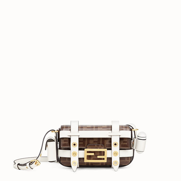 FENDI MINI BAGUETTE WITH CAGE - Multicolour leather and fabric bag - view 1 small thumbnail
