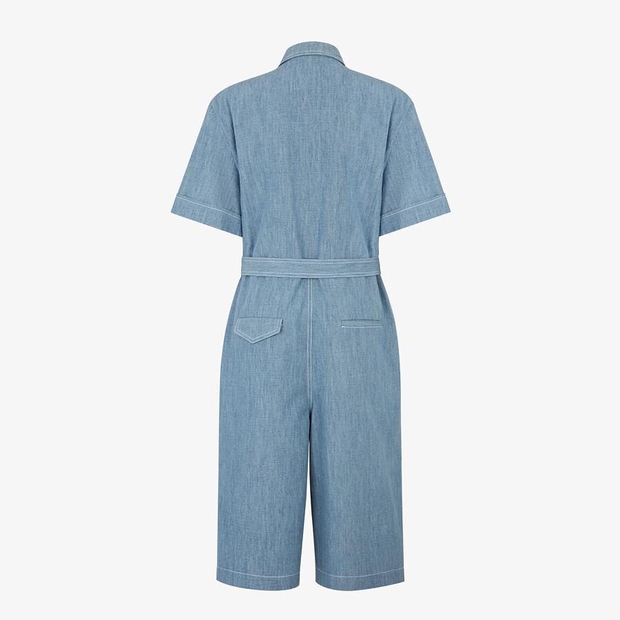 FENDI JUMPSUIT - Light blue chambray jumpsuit - view 2 detail