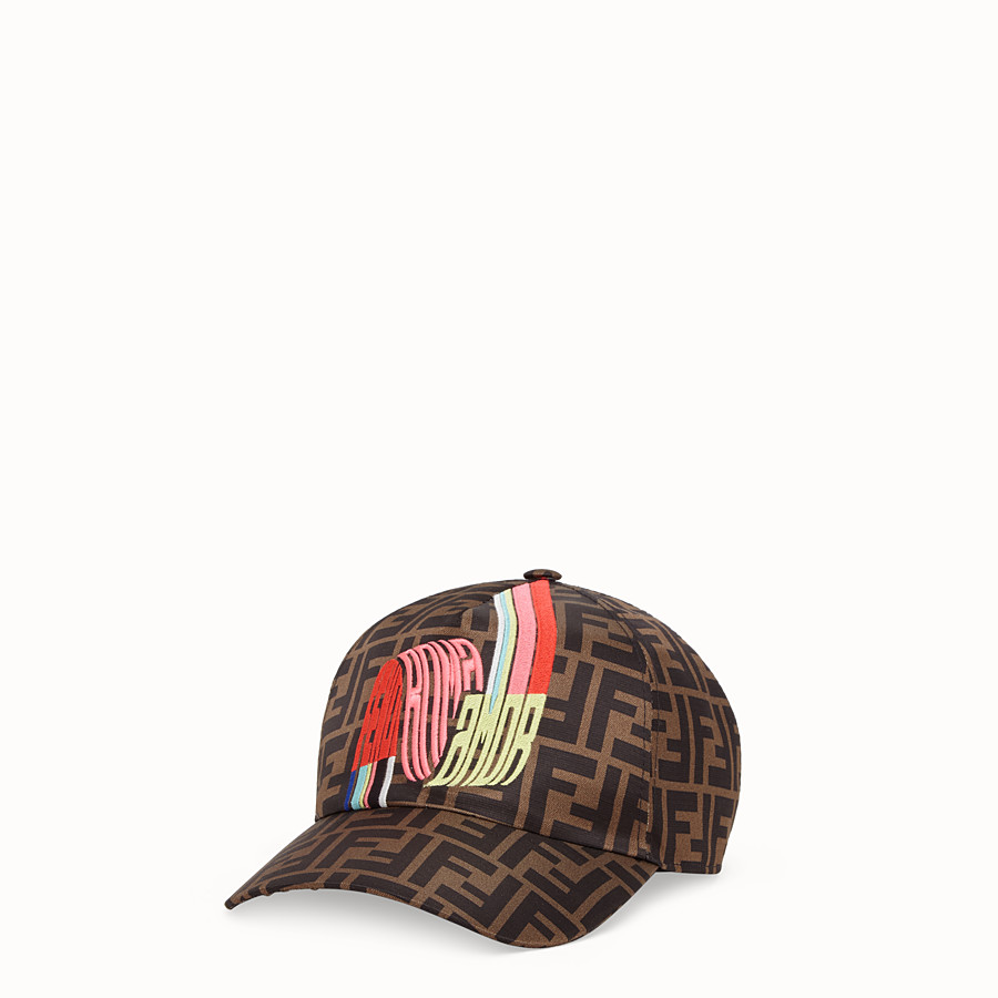 FENDI HAT - Fendi Roma Amor silk baseball cap - view 1 detail
