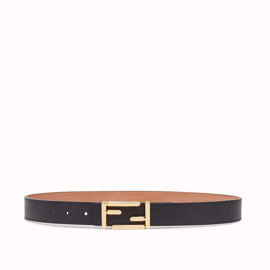 FENDI BAGUETTE BELT - in black calfskin - view 1 detail