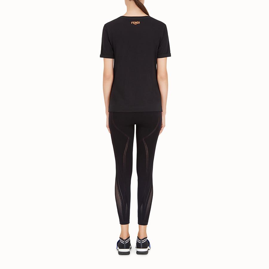 FENDI T-SHIRT - T-shirt en coton blanc - view 3 detail