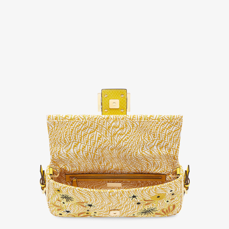 FENDI BAGUETTE 1997 - FF Vertigo jacquard bag with embroidery - view 4 detail