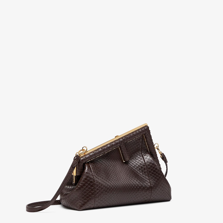 FENDI FENDI FIRST SMALL - Dark brown python leather bag - view 3 detail