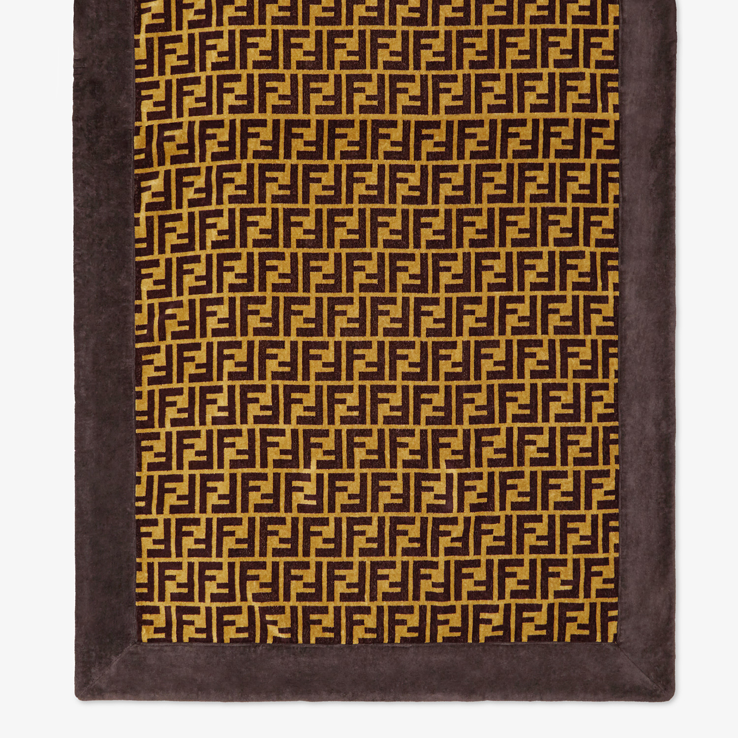 FENDI BEACH TOWEL - Brown cotton beach towel - view 3 detail