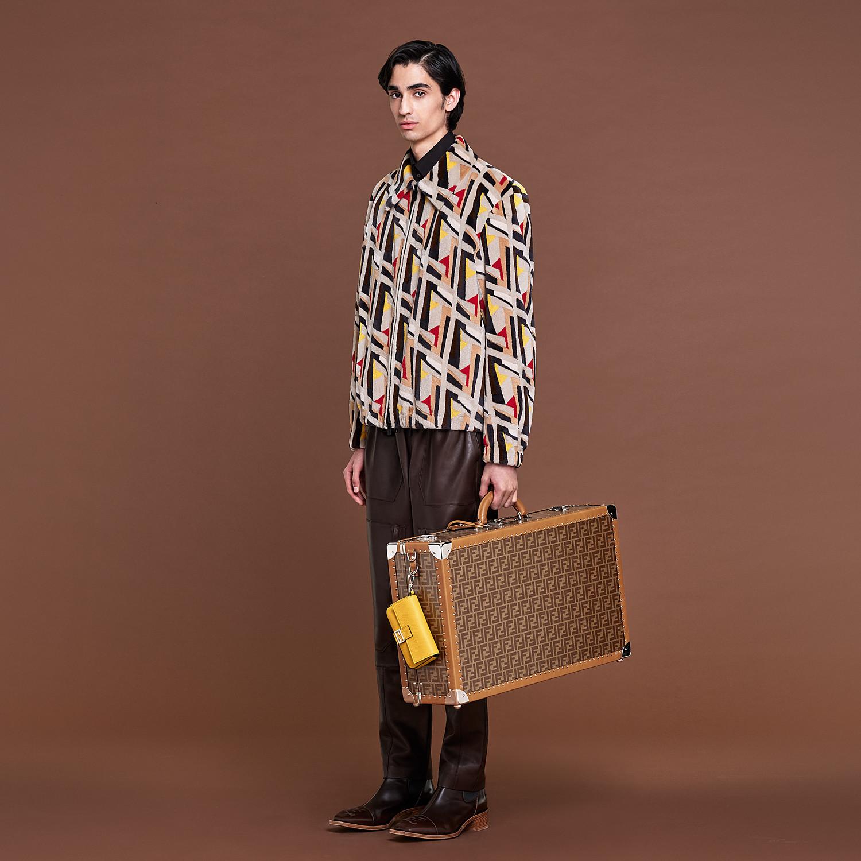 FENDI RIGID SUITCASE LARGE - Brown fabric suitcase - view 6 detail