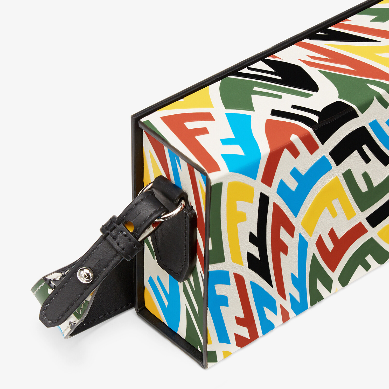 FENDI HORIZONTAL BOX - Multicolour FF Vertigo leather bag - view 5 detail