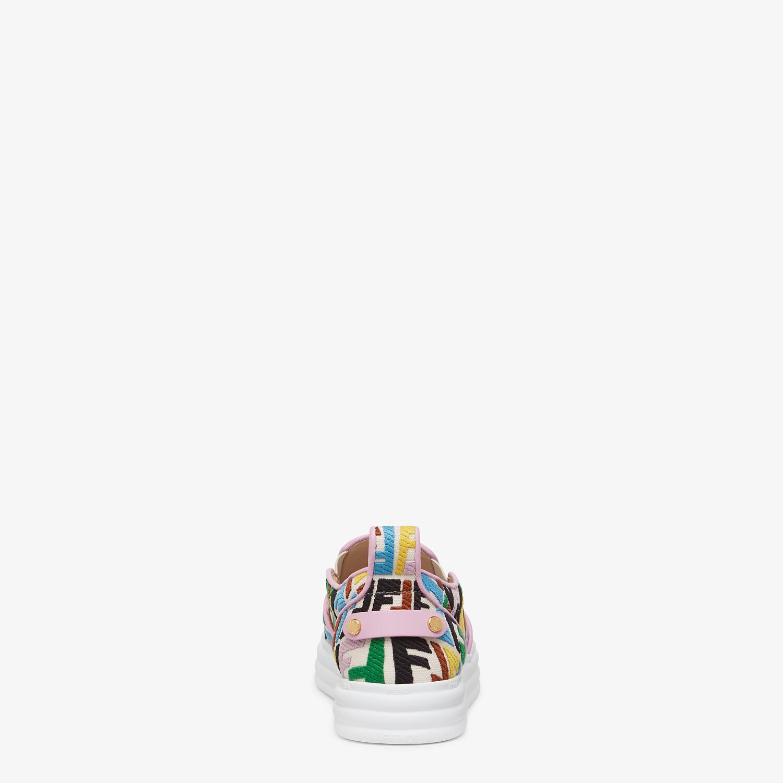 FENDI FENDI RISE - Multicolour canvas slip ons - view 3 detail