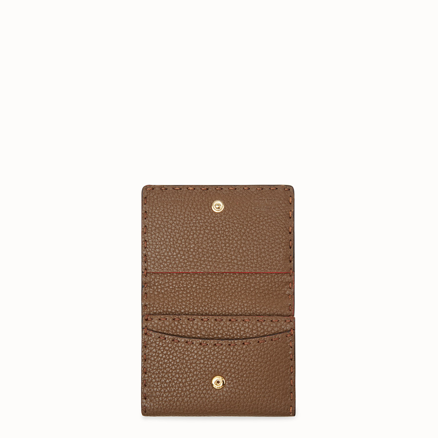 FENDI CARD HOLDER - Brown leather business card holder - view 3 detail