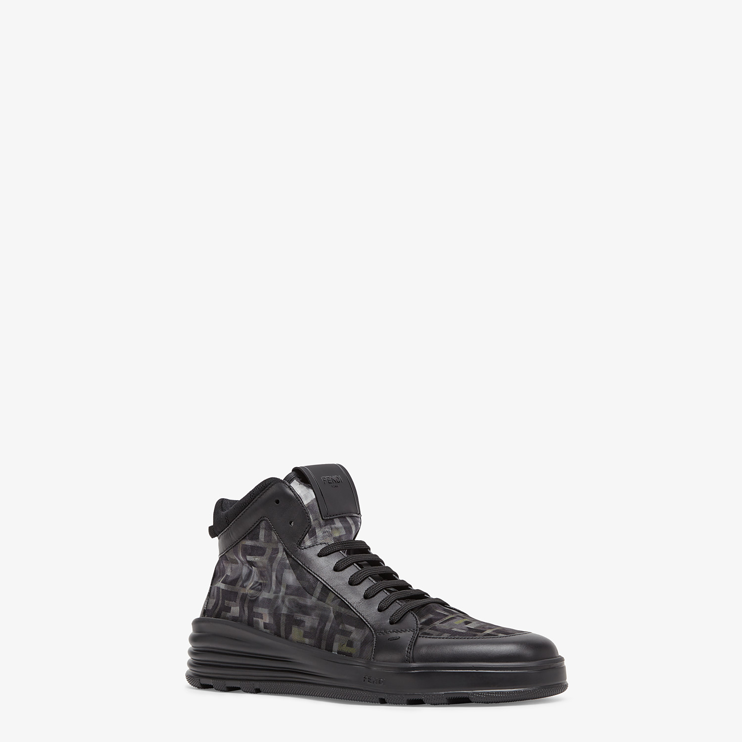 FENDI SNEAKERS - Multicolour tech mesh high-tops - view 2 detail
