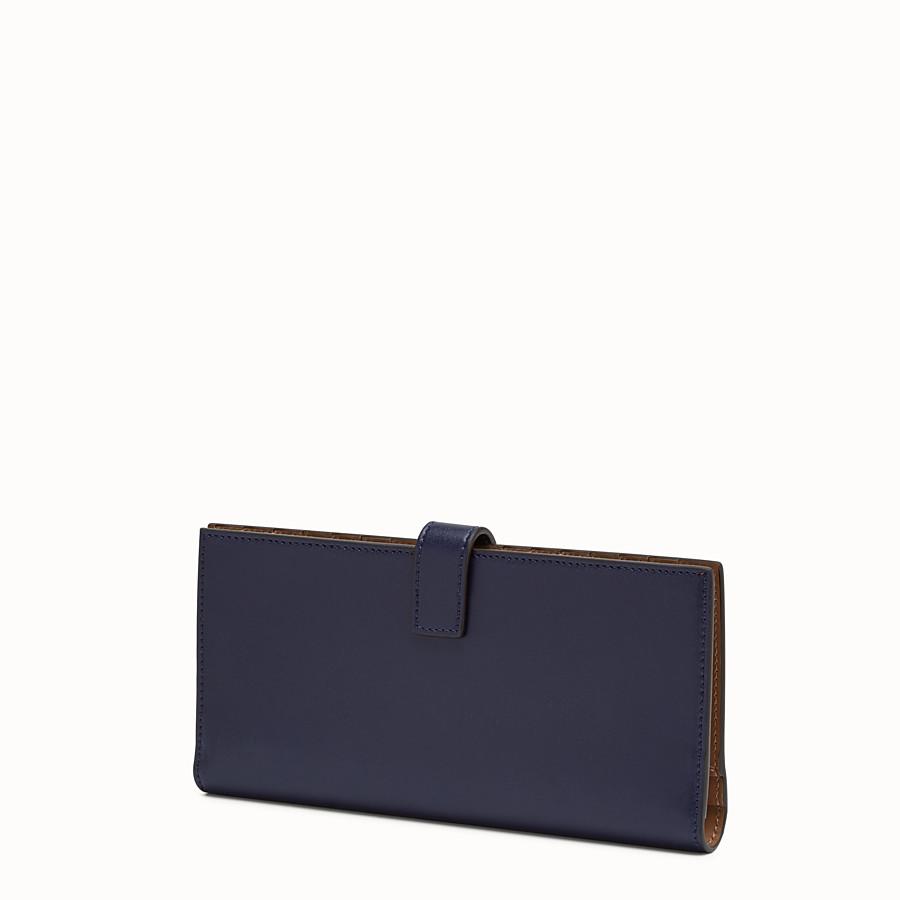 FENDI WALLET - Blue leather continental wallet - view 2 detail