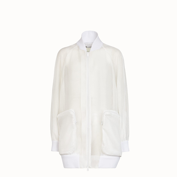 FENDI BOMBER - White organza bomber  - view 1 small thumbnail