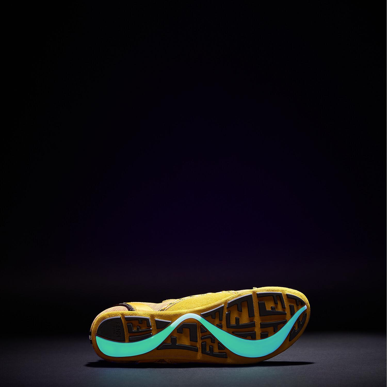 FENDI FENDI FLEX - Yellow suede sneakers - view 5 detail