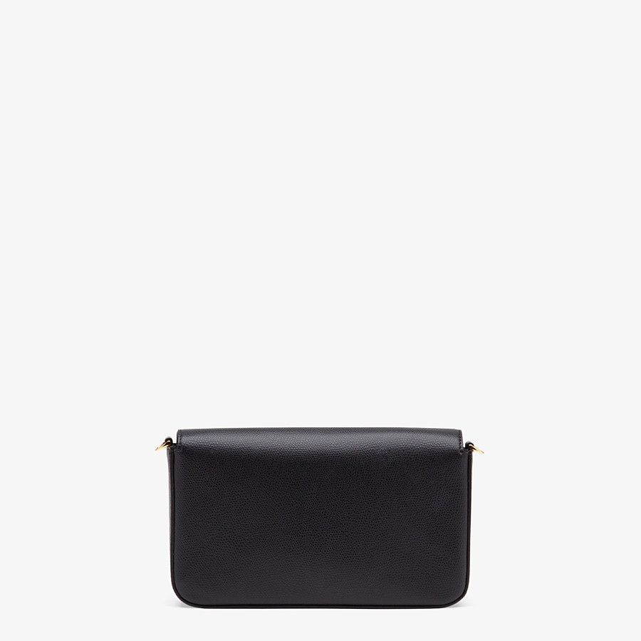 FENDI WALLET ON CHAIN WITH POUCHES - Black leather minibag - view 4 detail