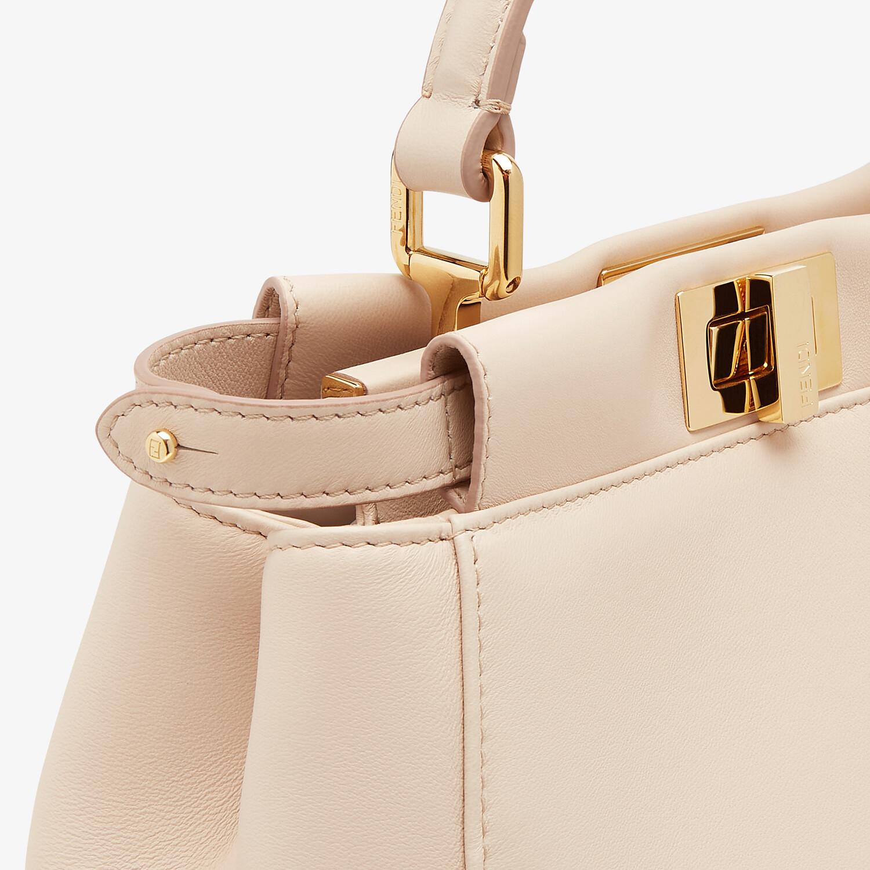 FENDI ICONIC PEEKABOO MINI - Pink nappa leather bag - view 5 detail
