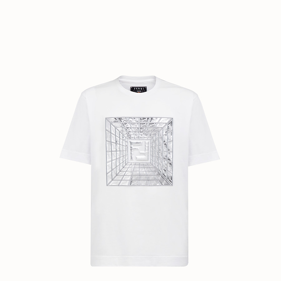 FENDI T-SHIRT - Fendi Prints On cotton T-shirt - view 1 detail