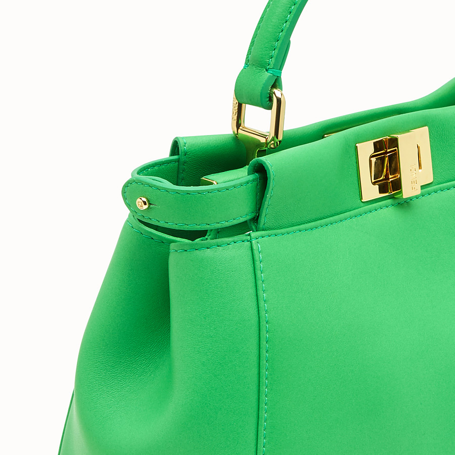 FENDI PEEKABOO ICONIC MINI - Green nappa leather bag - view 5 detail
