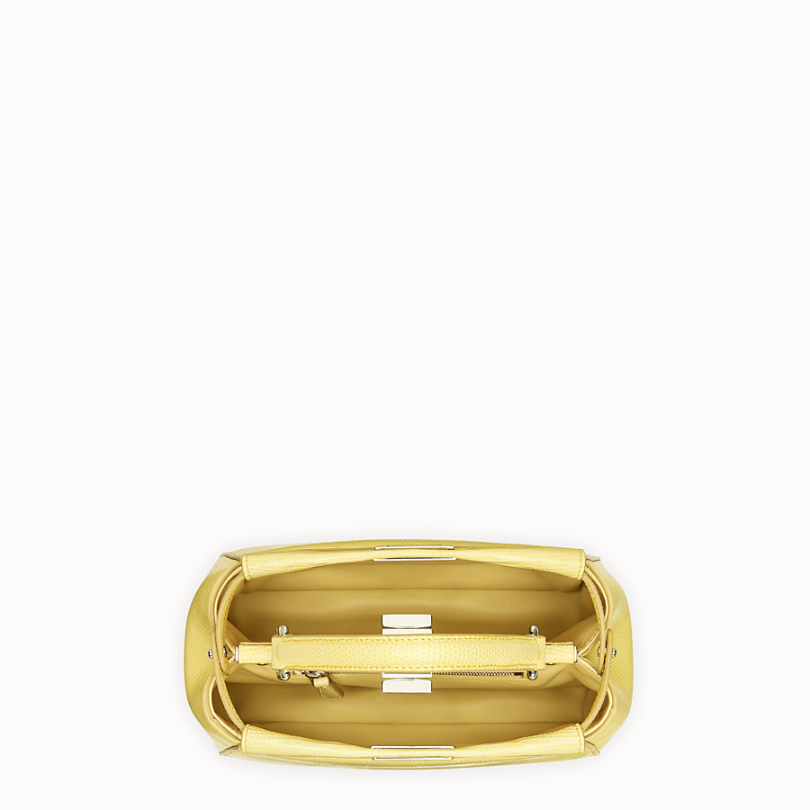 FENDI PEEKABOO ICONIC MINI - Yellow lizard bag - view 4 detail