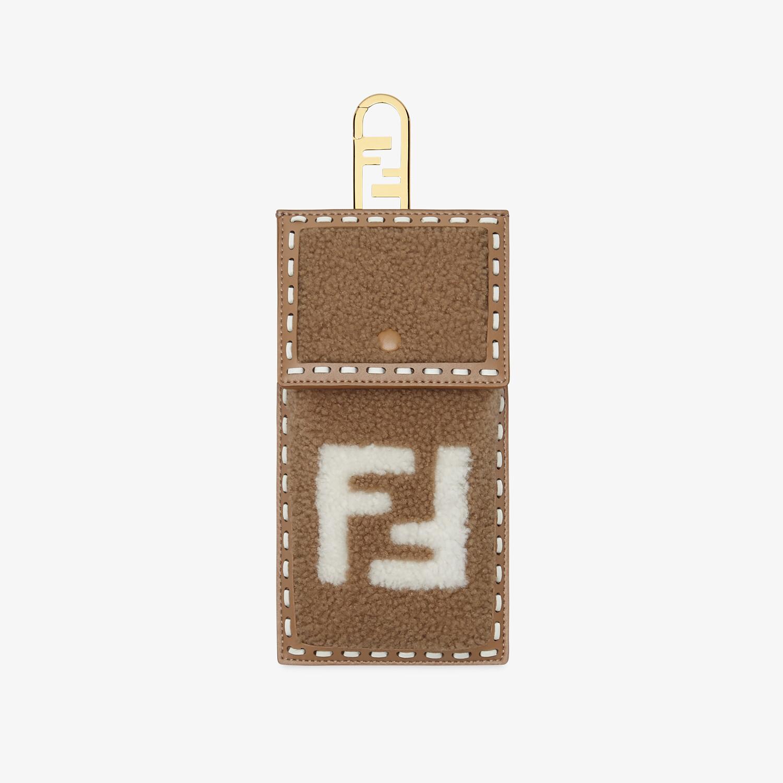 FENDI SMARTPHONE POCKET - Beige sheepskin case - view 1 detail