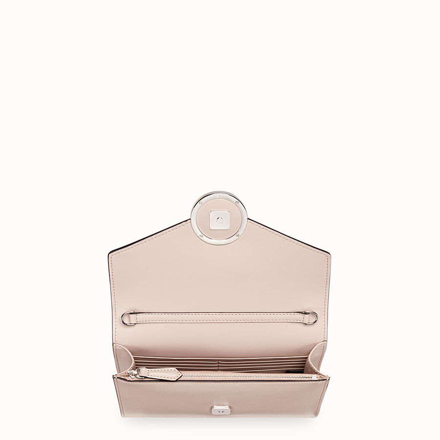 FENDI WALLET ON CHAIN - Pink leather minibag - view 4 detail