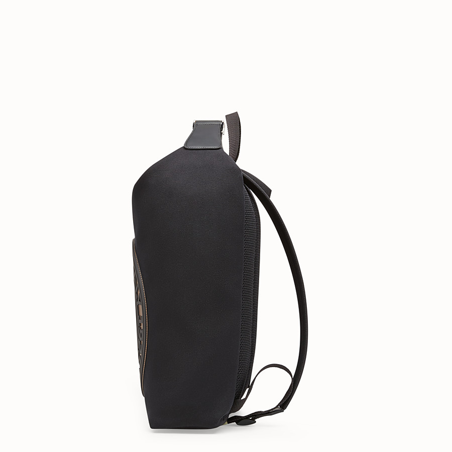 FENDI BACKPACK - Black canvas backpack - view 2 detail
