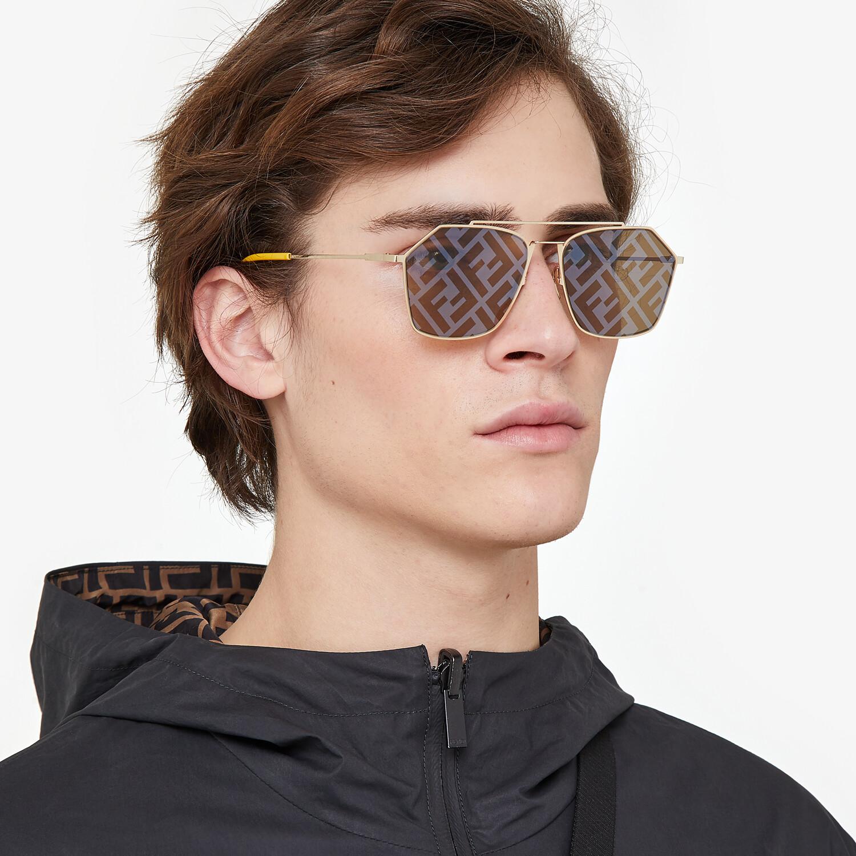 FENDI EYELINE - Yellow sunglasses - view 4 detail