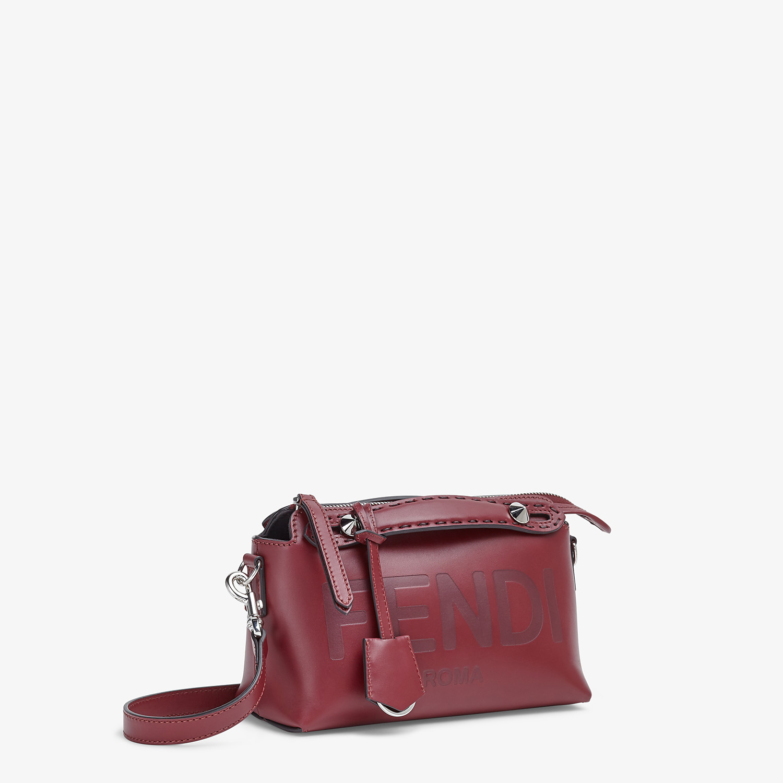 FENDI BY THE WAY MINI - Burgundy leather Boston bag - view 3 detail