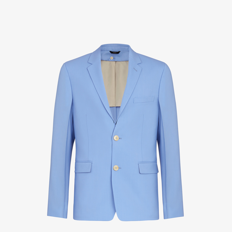 FENDI JACKET - Light blue wool blazer - view 1 detail