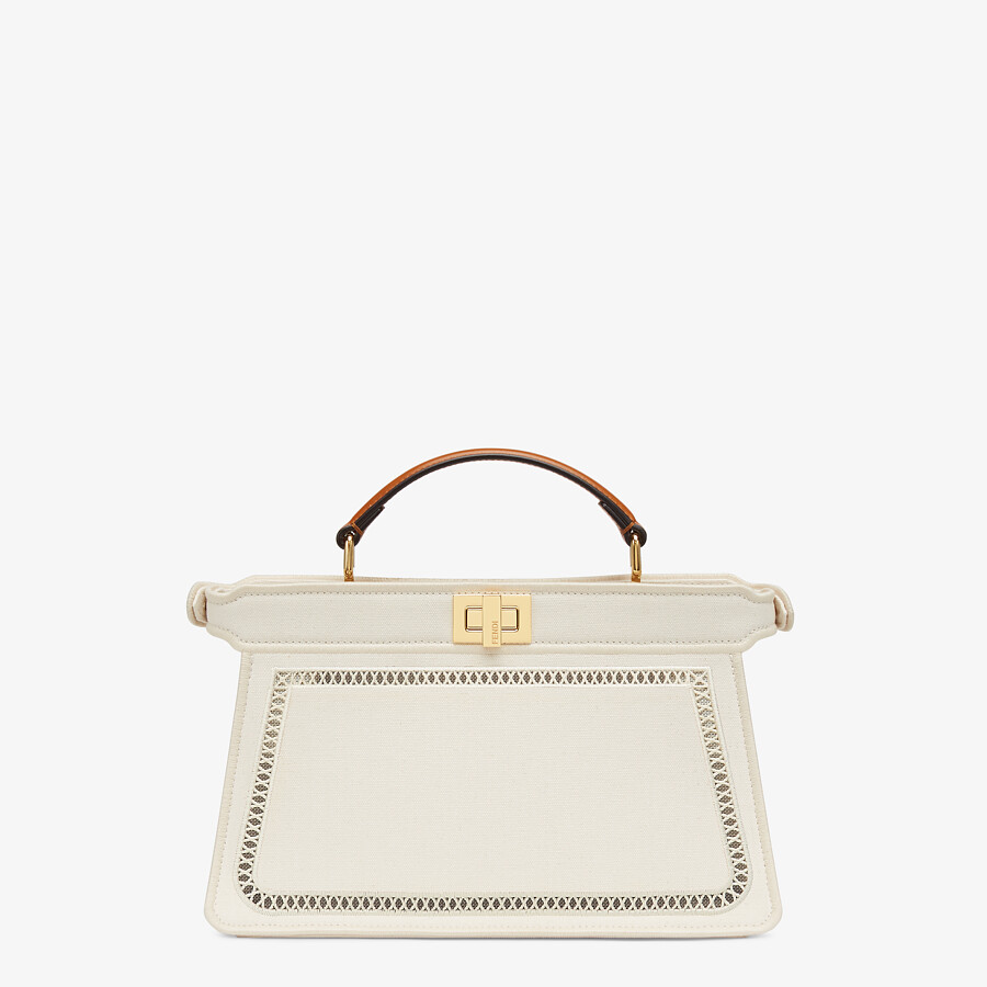 FENDI PEEKABOO ISEEU EAST-WEST - Canvas bag with embroidery - view 4 detail