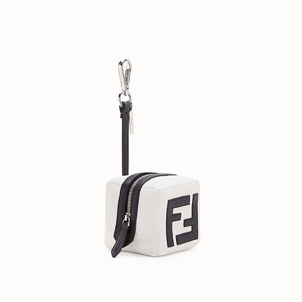FENDI COIN PURSE - White leather charm - view 1 small thumbnail